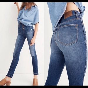 💥⚡️NWT Madewell Button Fly Slim Straight Jeans